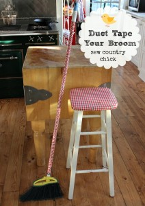 Duct Tape Your Broom!