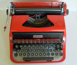 A 1958 Red Underwood Typewriter For Lily