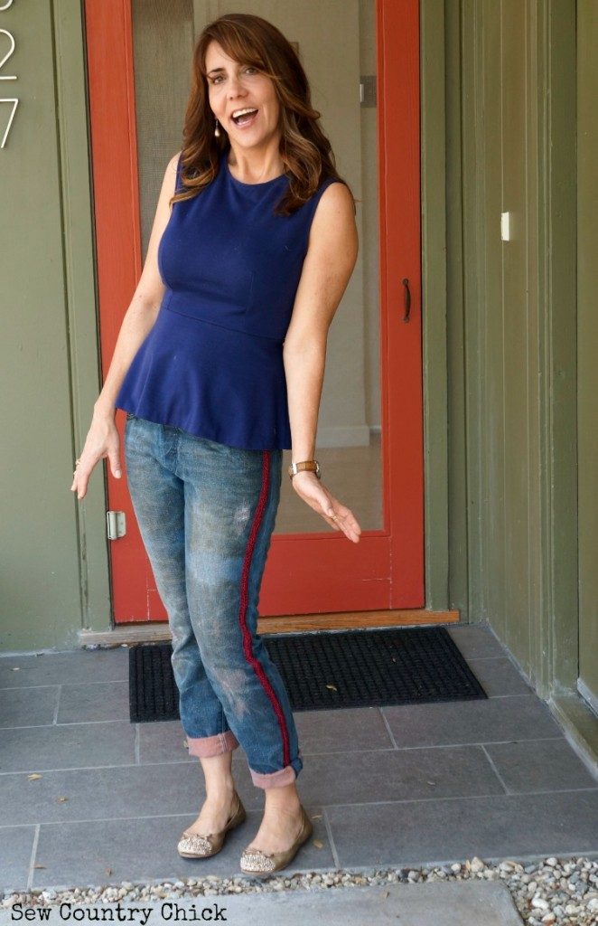 DIY Boyfriend Jeans by Justine of Sew Country Chic
