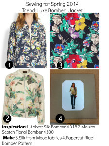 sewing spring trends : Bomber jacket