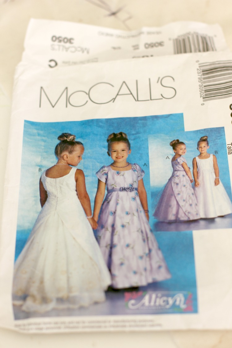 Refashioning Mom\'s Wedding Gown Into A First Communion Dress- Finished!