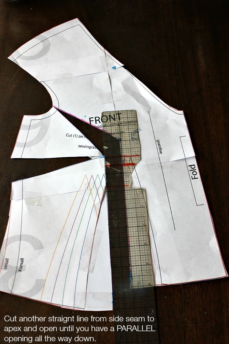 Full Bust Adjustment or FBA Tutorial by Sew Country Chick