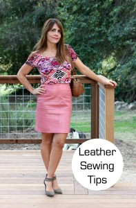 Leather Sewing Tips From My Pink Skirt