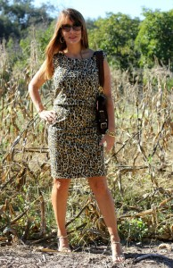 Leopard Crop Top / Draping, Patterning