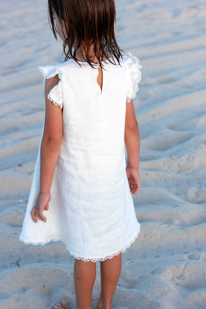 A White Linen Smock From Sewing For Your Girls Japanese