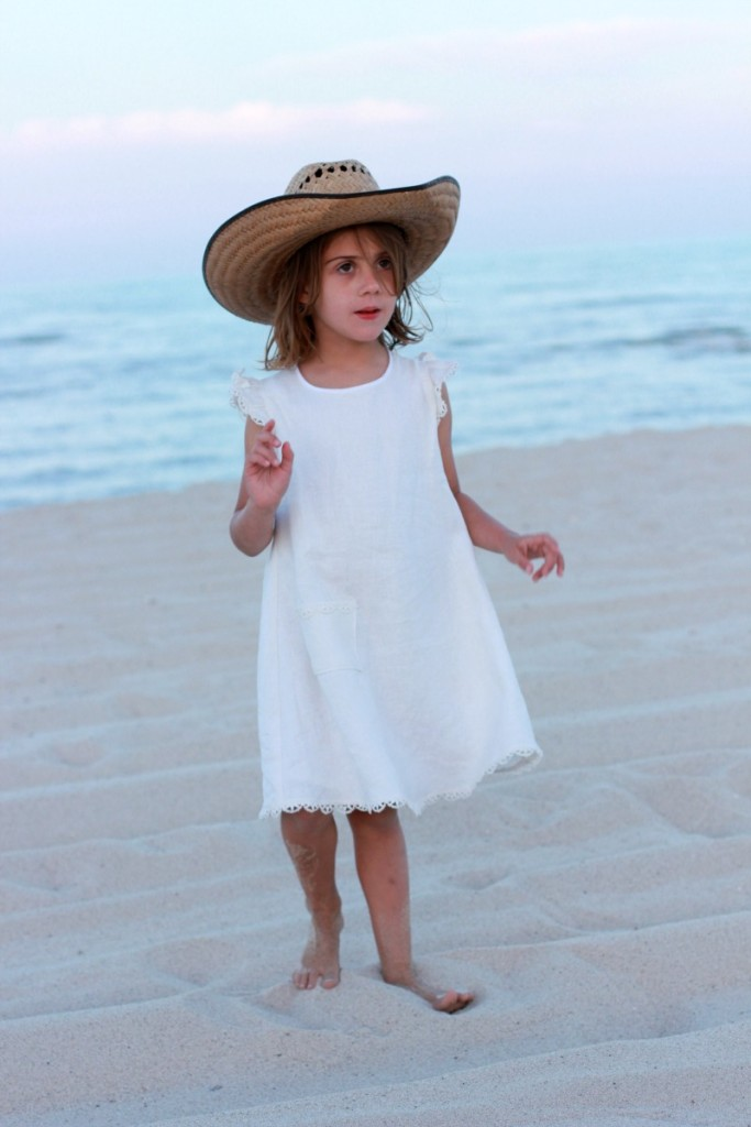 linen dress from sewing for your girls japanese pattern book