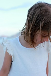 a white linen smock from sewing for your girls-japanese pattern book in english