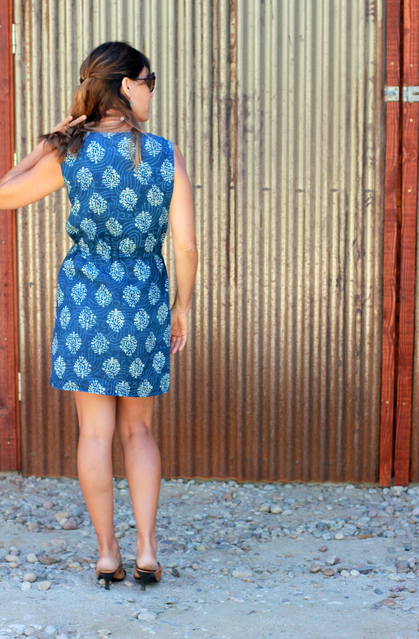 Easy summer dress in indian cotton sew simple a1636 in cotton from the delhi store ombrellifo Images