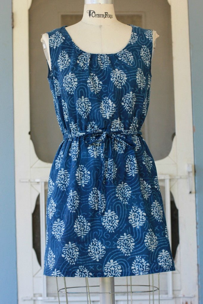 how to make a simple cotton summer dress