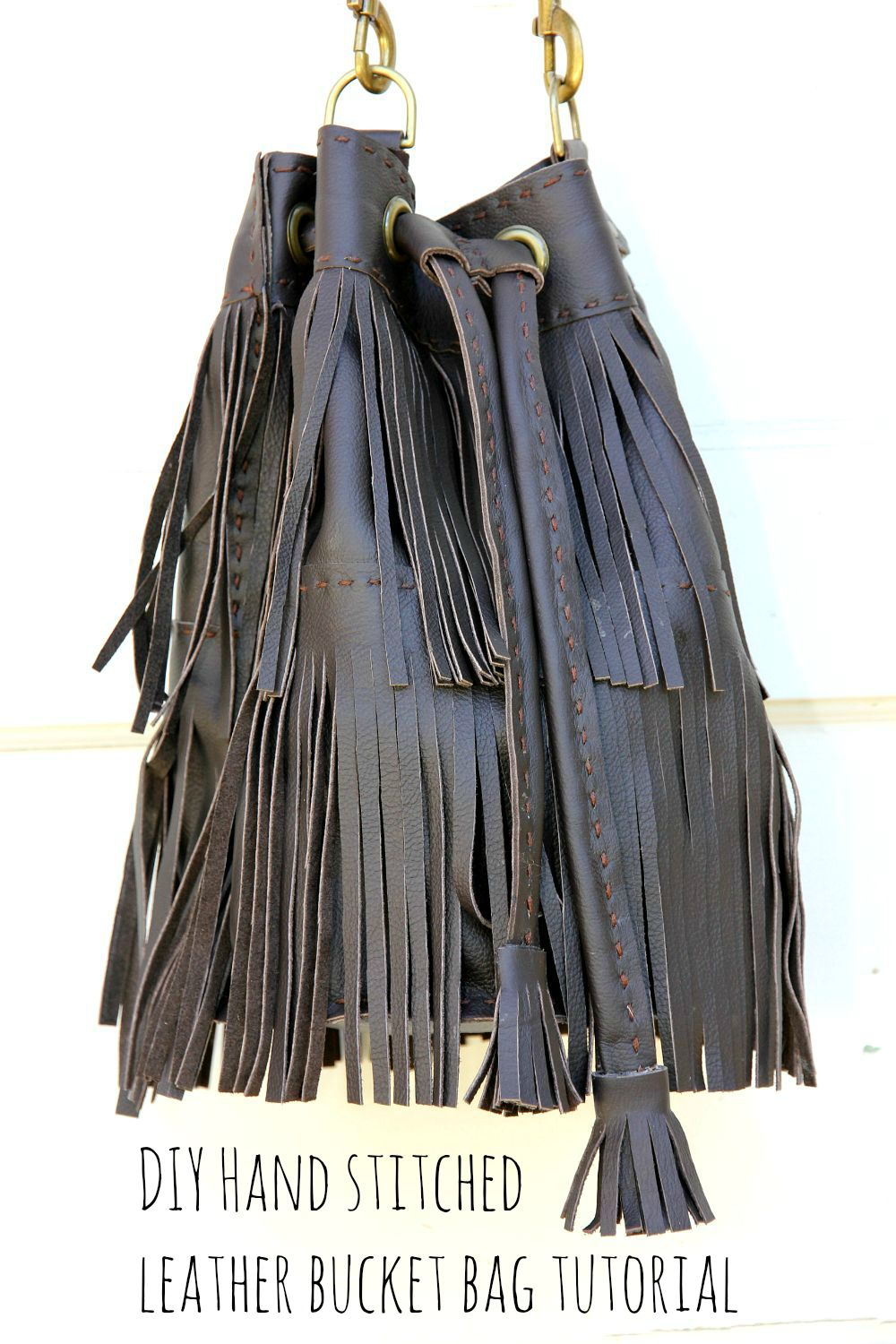 Perfect DIY Leather Fringe Bag recommend