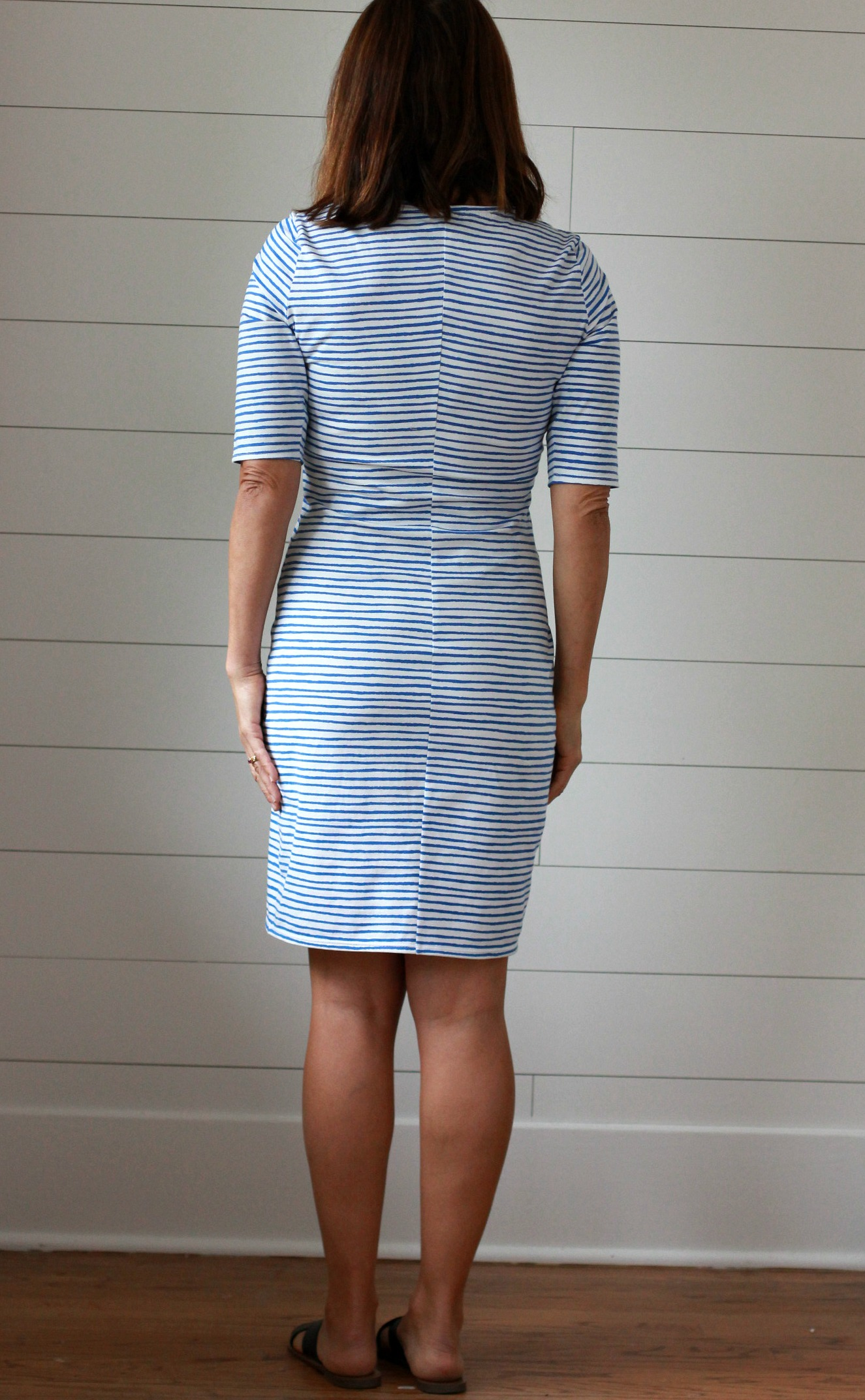Bootstrap Stretch Dress Sloper With A Lace Up Neck And