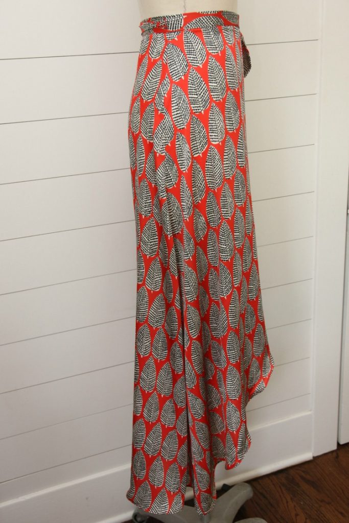 Tulip wrap maxi skirt pattern hack for New Look 6456