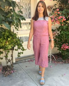 Lisette for Butterick 6183 top and cropped pants
